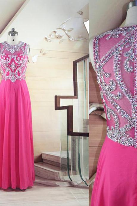 High Quality Prom Dress,Charming Prom Dress,Chiffon Prom Dresses,Beaded Partterns Prom Dresses,Long Prom Dress,Modest Prom Dress,Formal Dress Real Made
